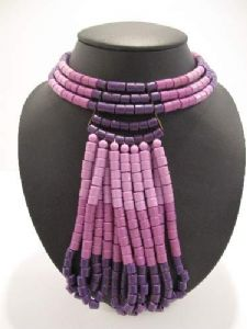 **On hold** Early 1960's lilac, violet and purple plastic choker